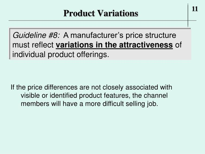 Product Variations