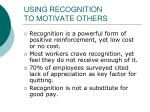 using recognition to motivate others