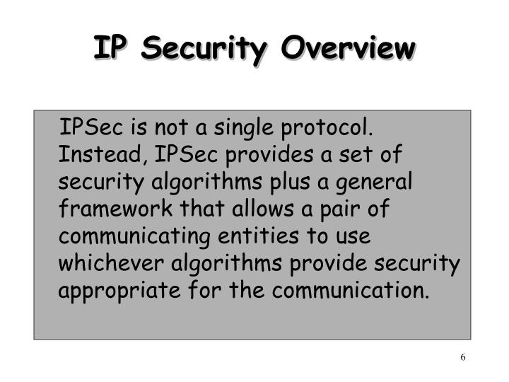 IP Security Overview