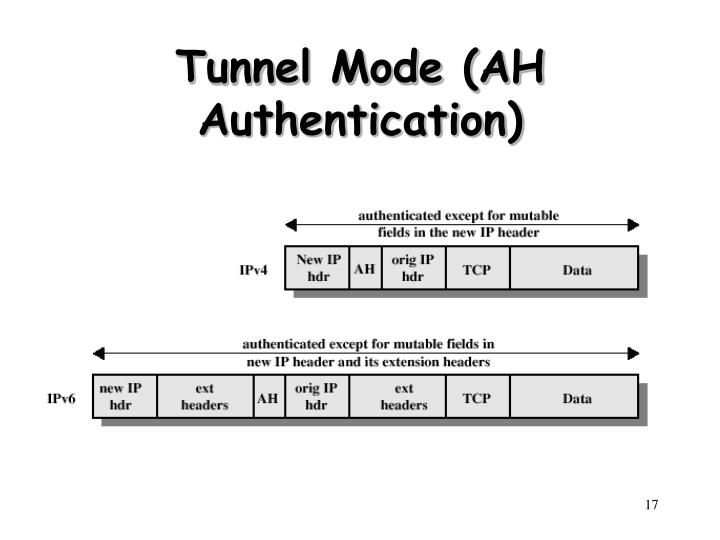 Tunnel Mode (AH Authentication)