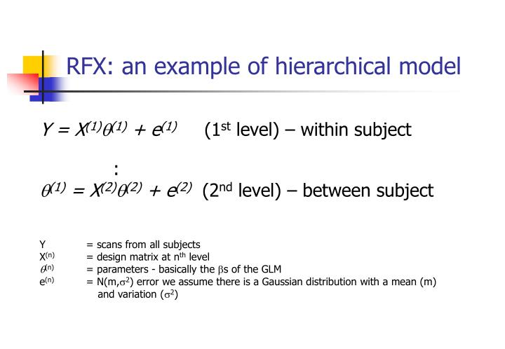 Rfx an example of hierarchical model