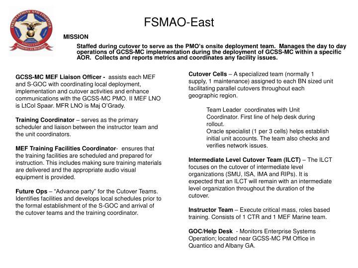 FSMAO-East