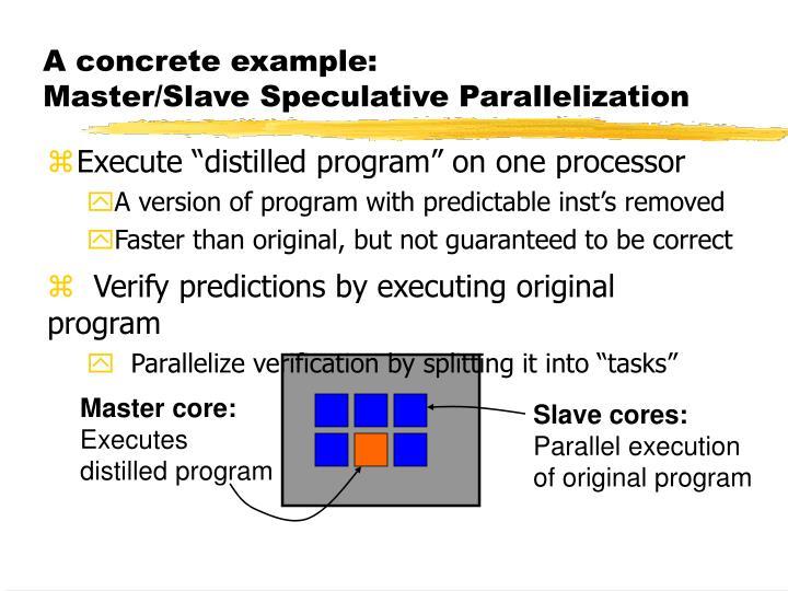 A concrete example: