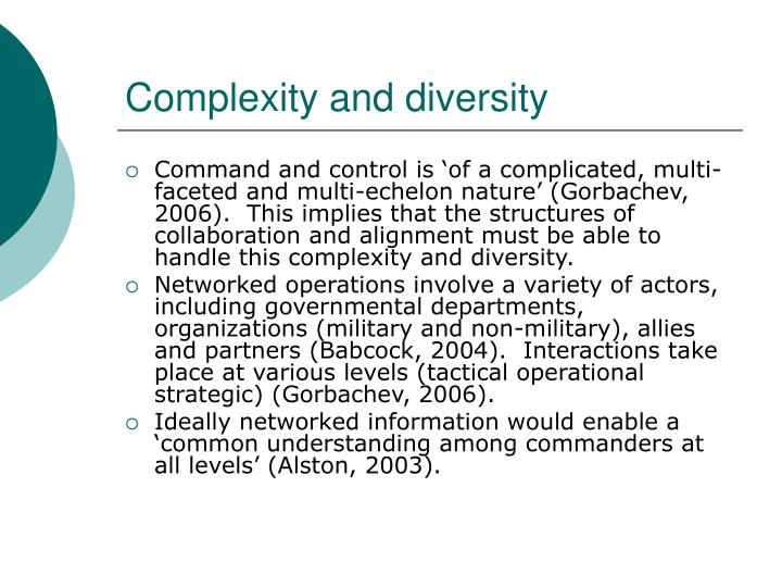 Complexity and diversity