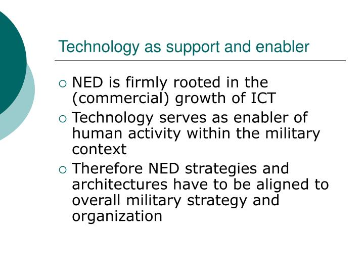 Technology as support and enabler