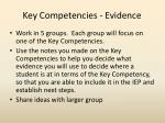 key competencies evidence