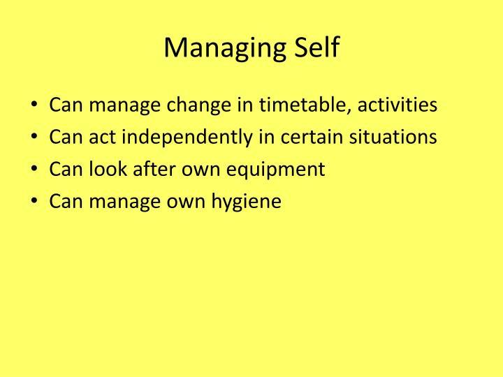 Managing Self