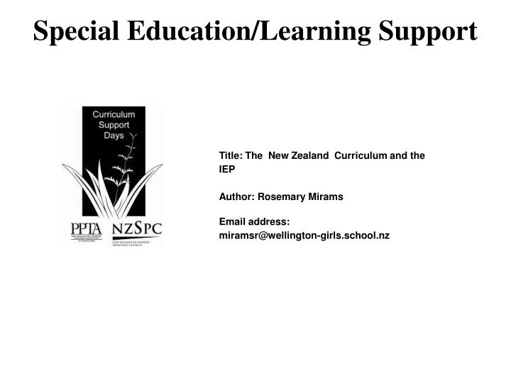 Special education learning support