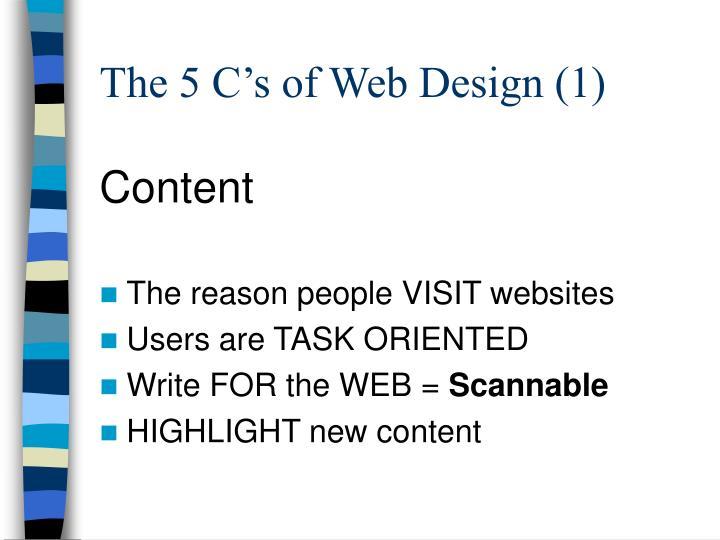 The 5 C's of Web Design (1)