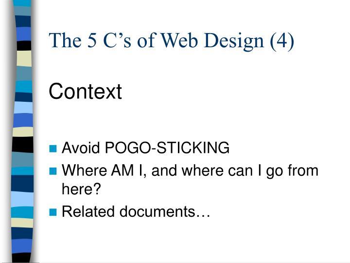 The 5 C's of Web Design (4)