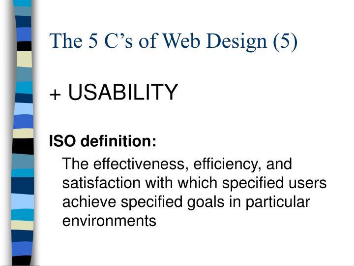 The 5 C's of Web Design (5)