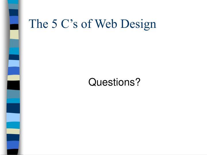 The 5 C's of Web Design