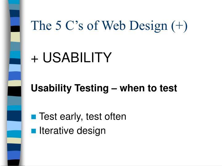 The 5 C's of Web Design (+)