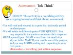 assessment ink think