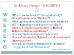 backward design whereto