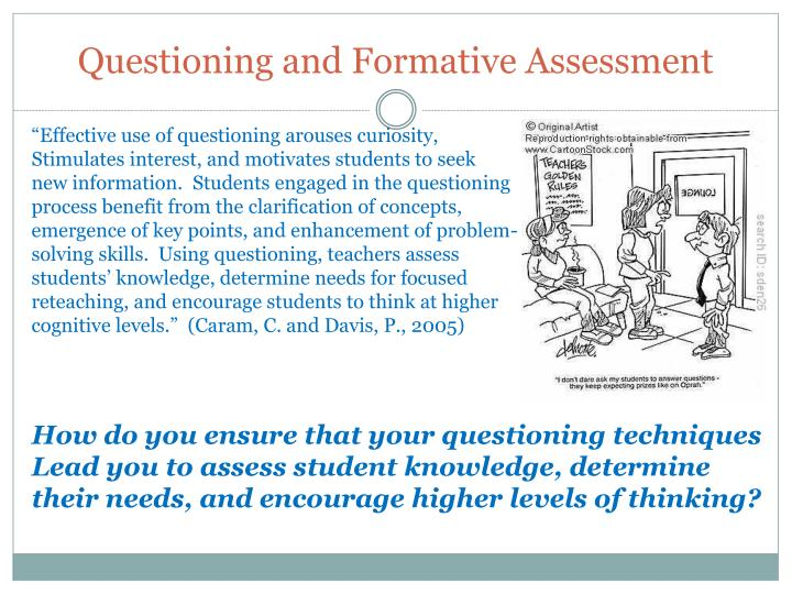 Questioning and Formative Assessment