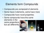 elements form compounds