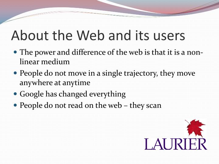 About the Web and its users