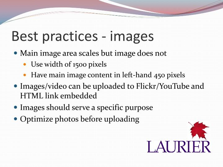 Best practices - images