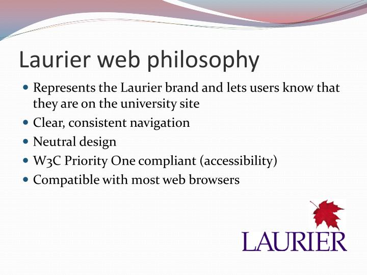 Laurier web philosophy