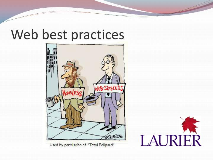 Web best practices