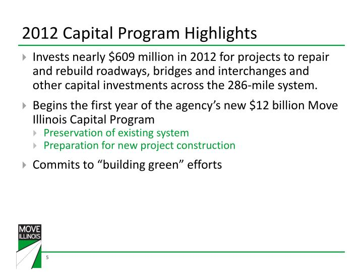 2012 Capital Program Highlights