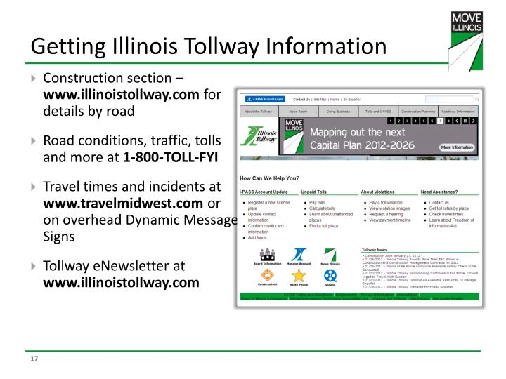 Getting Illinois Tollway Information