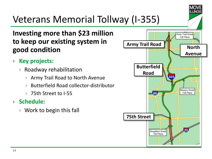 Veterans Memorial Tollway (I-355)