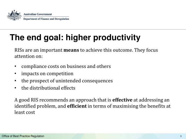 The end goal: higher productivity