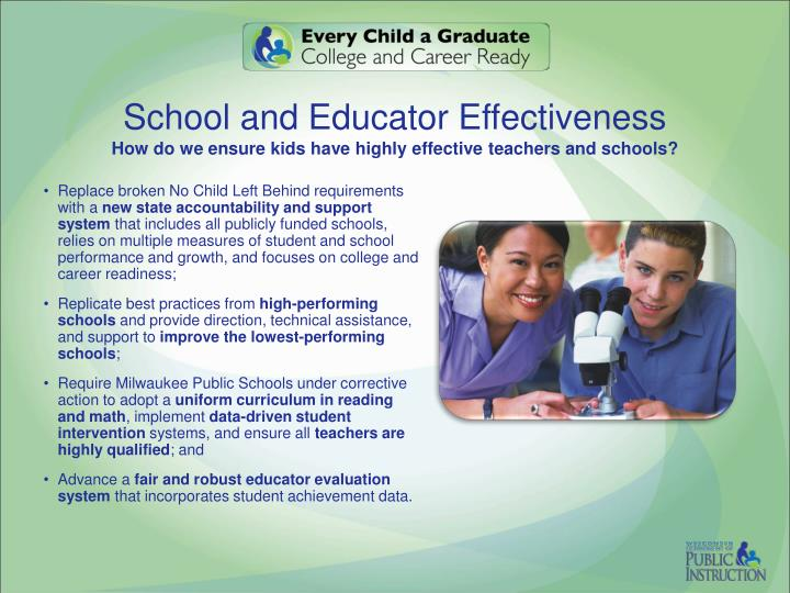 School and Educator Effectiveness