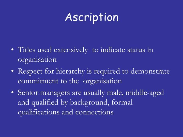 Ascription