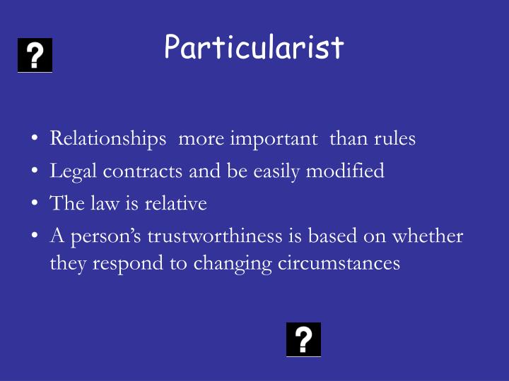 Particularist