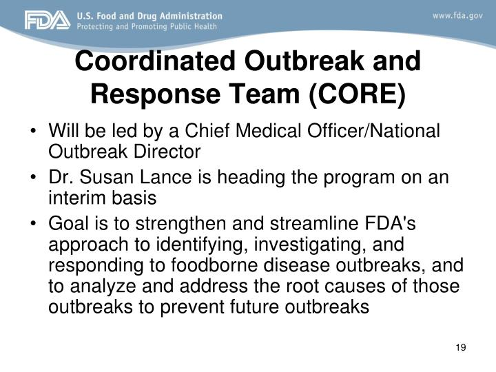 Coordinated Outbreak and Response Team (CORE)