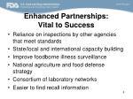 enhanced partnerships vital to success