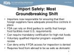 import safety most groundbreaking shift