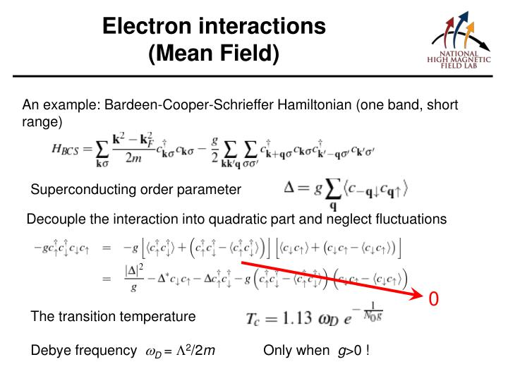 Electron interactions