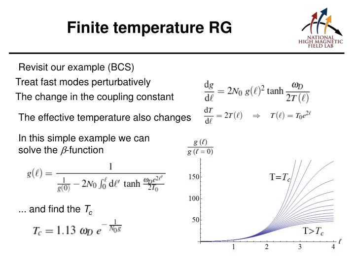 Finite temperature RG