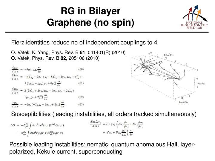 RG in Bilayer