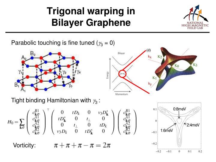 Trigonal warping in