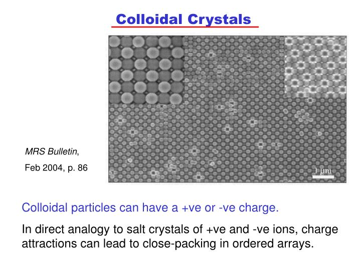 Colloidal Crystals