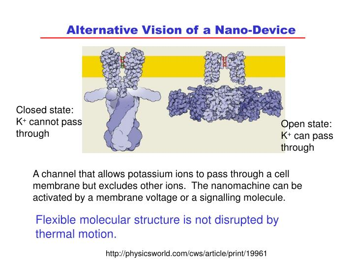 Alternative Vision of a Nano-Device