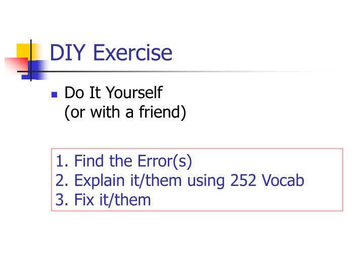DIY Exercise