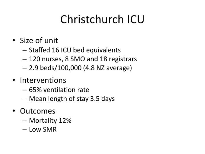 Christchurch ICU