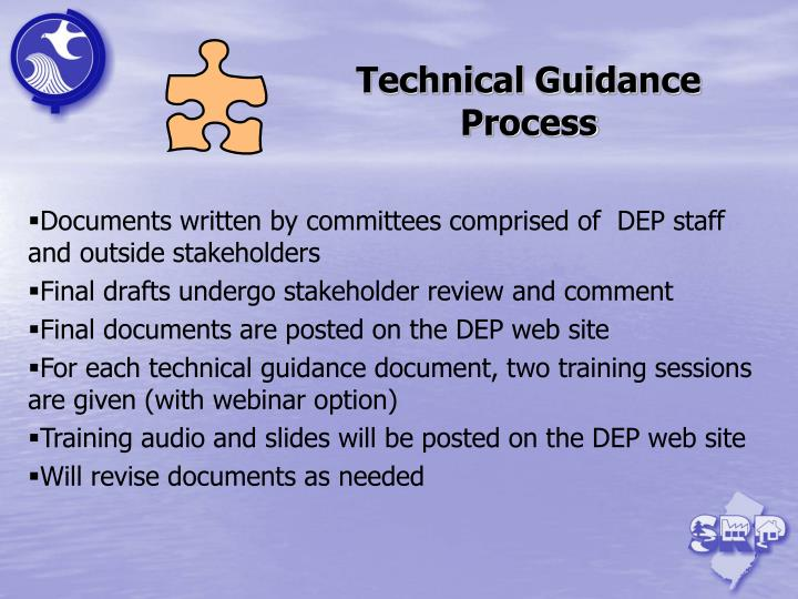 Technical Guidance Process