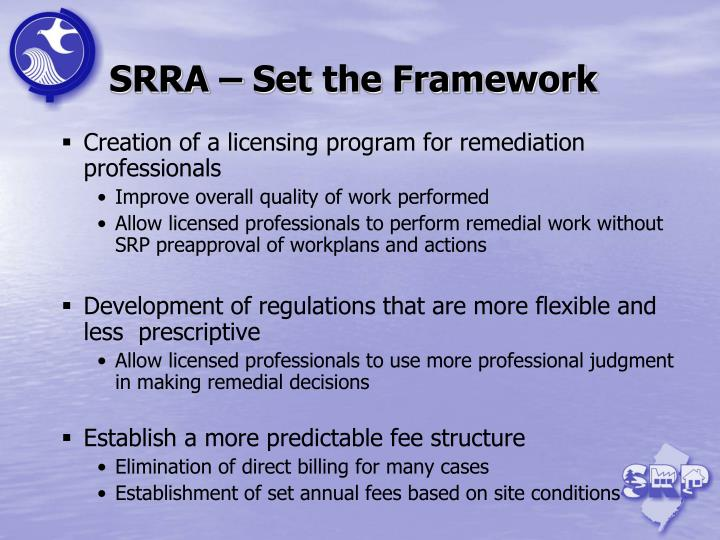 SRRA – Set the Framework
