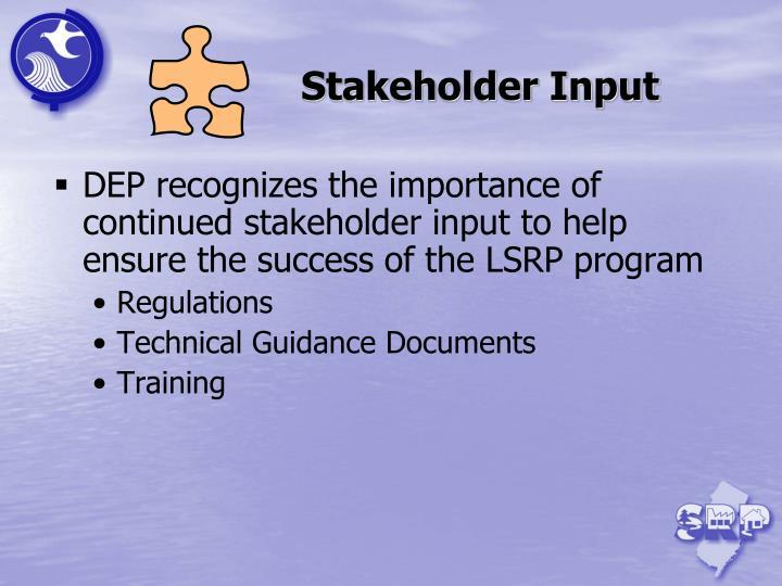 Stakeholder Input