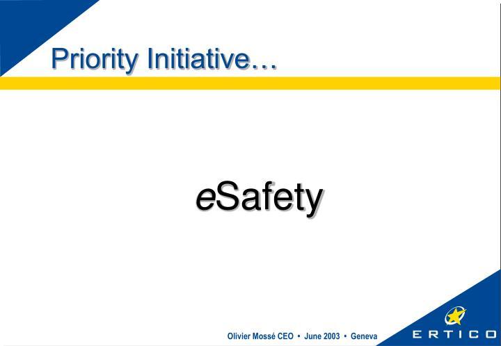 Priority Initiative…