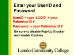 enter your userid and password