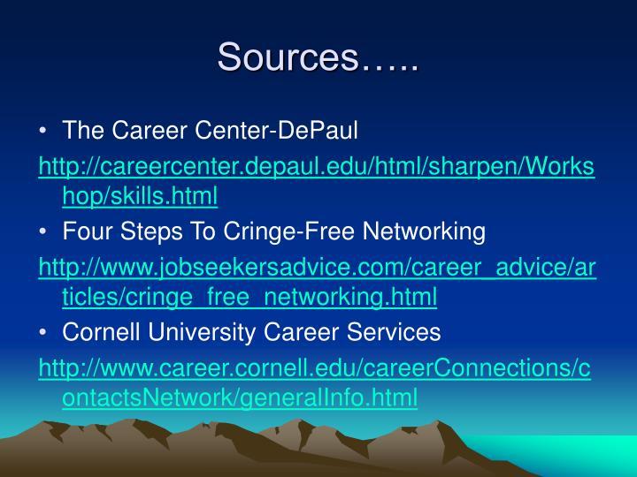 Sources…..