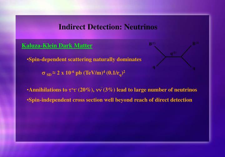 Indirect Detection: Neutrinos